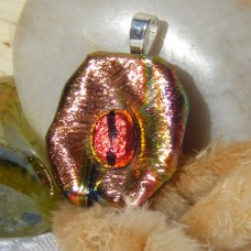 Coffee Bean Handmade Dichroic Glass Pendant