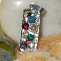 Bubble Ingot Handmade Dichroic Glass Pendant