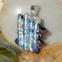 Hashtag Handmade Dichroic Glass Pendant