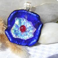 Handmade Pendant - Jade Oval Semi Precious Stone in Golden Setting