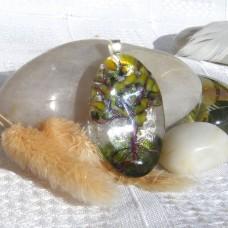 Fused Glass Handmade Dichroic Pendant - Spring Tree of Life