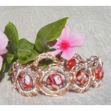 Red Mother of Pearl Button Beads
