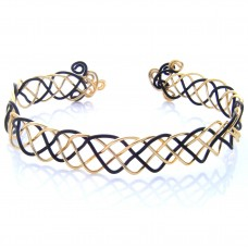 Celtic Black and Gold Plated Bracelet