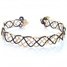 Celtic Black and Gold Plated Bracelet