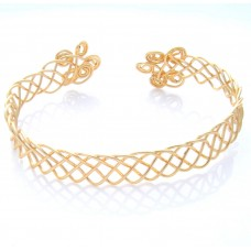 Celtic Style Gold Plated Bracelet