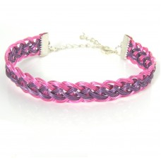 Pink and Purple Roman Pattern Guilloche Bracelet