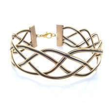 Black and Gold Criss Cross Bracelet