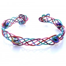 Celtic Style Multi Wire Wrapped Bracelet