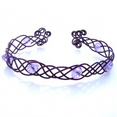 Celtic Style Jewelry with Purple Wire Bracelet