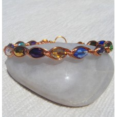 Copper Bracelet with Multi AB Beads