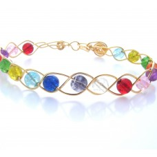 Multi-Coloured Bead Bracelet Wire Jewelry