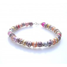 Gold Plated Wire Wrapped Jewelry Bead Bracelet