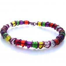 Purple Multi Wire Wrap and Bead Bracelet