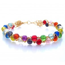 Criss Cross Wire wrap and Bead Bracelet