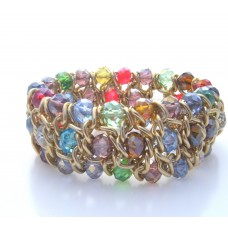 Rainbow Elasticated Bracelet