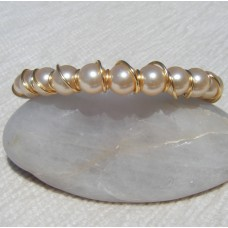 Gold Wrapped Bead Bracelet