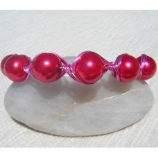 Pink Glass Bead Bracelet