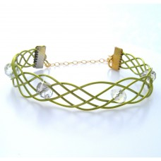 Celtic Style Wire Emerald Green Bracelet