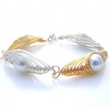 Herringbone Pearl Bracelet