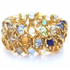 Golden Rainbow Elasticated Bracelet