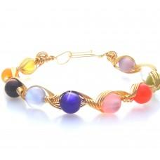 Cats Eye Glass Bead Bracelet