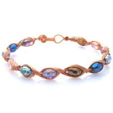 Multi Faceted Oval AB Bracelet