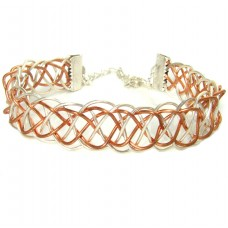 Silver Plated and Copper Wire Wrapped Bracelet