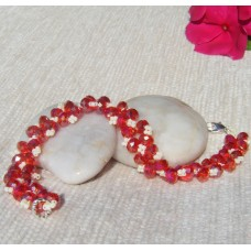 Red Sparkly AB Bracelet