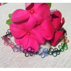 Multi Colour Wire Butterfly Bracelet