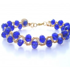 Sapphire Blue and Gold Bracelet