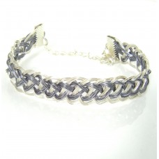 Silver and Grey Wrapped Bracelet