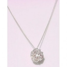 Wiggly Silver Plated Ball Pendant