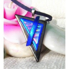 Stacked Triangles Dichroic Glass Pendant