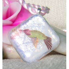 Humming Bird Dichroic Glass Pendant