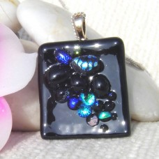 Black Grapes Dichroic Pendant