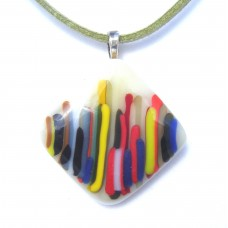 Multi Lines Fused Glass Pendant