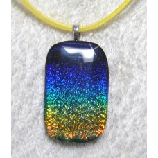Blue Green Yellow Rainbow Dichroic Pendant