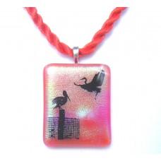Flamingo Dichroic Pendant